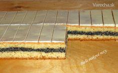 Biele makové rezy (fotorecept) - recept | Varecha.sk Butcher Block Cutting Board, Nutella, Cheesecake, Sweet, Desserts, Food, Candy, Tailgate Desserts, Deserts