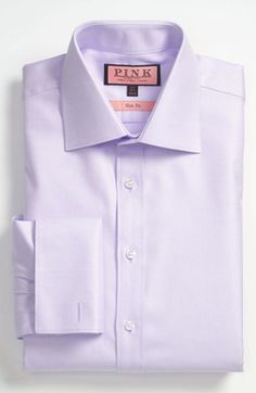 Thomas Pink Slim Fit Dress Shirt | Nordstrom this shirt w deep navy suit...off the charts!! :)