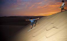 Peru is a gem-  Sandboarding in Las Dunas, Ica