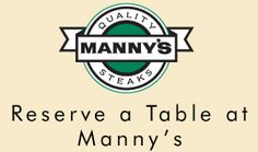 MANNY'S STEAK HOUSE : Life is good at the top of the food chain