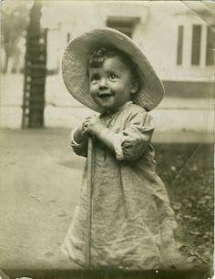 Sweet little Edwardian gardener boy