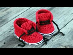 Crochet Baby Shoes Tutorial For Newborn ᴴᴰ █▬█ █ ▀█▀ - YouTube