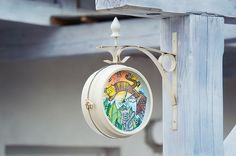 hand painted clock by uniposca pens #uniposca #poscapens