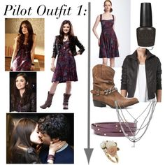 Aria- Pilot Outfit 1 by aria-montgomery-style-guide on Polyvore featuring polyvore, fashion, style, New Look, Marc by Marc Jacobs, Gorjana, Dorothy Perkins, Guide London, Heist and OPI