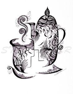 Purple Heart Yoga » Sweet Morning Love Zentangle