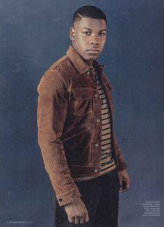 John Boyega wearing our jacket in ES magazine