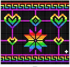 Stitch Fiddle is an online crochet, knitting and cross stitch pattern maker. Pony Bead Patterns, Loom Patterns, Beading Patterns, Embroidery Patterns, Cross Stitch Pattern Maker, Cross Stitch Patterns, Mochila Crochet, Tapestry Crochet Patterns, Graph Paper Art