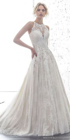 6309c43f32d o-onek White Tulle Wedding Dress with Appliques