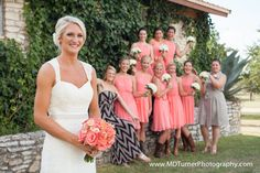 Pretty bridal party photo - Houston wedding photography - MD Turner Photography