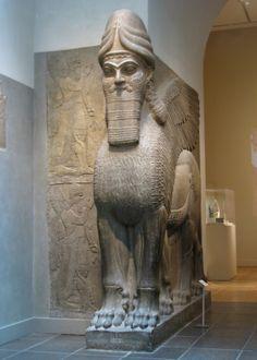 MET - Two Lamassu Nimrud