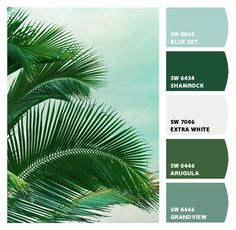 green and teal layers. Paint colors from Chip It! by Sherwin-Williams