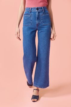 Don't have an outfit for the Fourth of July yet? Fear not—we just found seven for you. Click in to see and shop them for yourself. Wish Clothing, Square Pants, Couture, Feminine Style, Elegant, Casual Looks, Bell Bottom Jeans, Mom Jeans, Winter Fashion