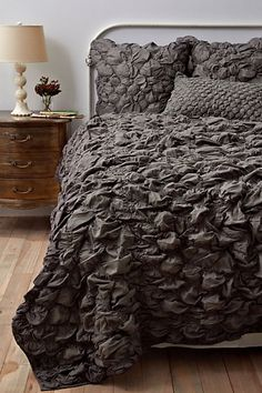 Anthropologie Catalina Quilt, Charcoal #anthropologie come-home-to-bedroom