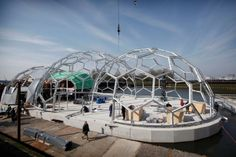 100% climate proof : Projecten : Floating Pavilion in the centre of Rotterdam :: Rotterdam Climate Initiative