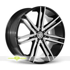 Borghini B20 Machined Black Wheels For Sale- For more info: http://www.wheelhero.com/customwheels/Borghini/B20-Machined-Black