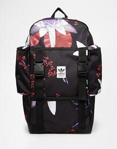 85aa90c6167 Adidas Originals Backpack in Lotus Print Adidas Backpack, Adidas Outfit,  Viria, The Originals