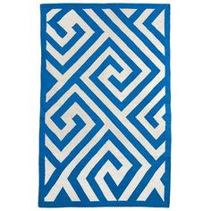 Broadway Rug in Blue & White, 2x3 ($34) found on Polyvore