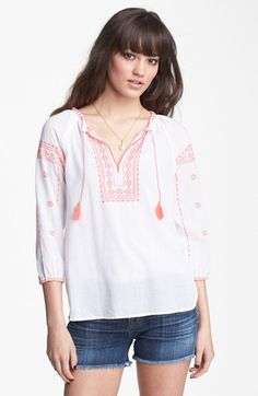 Maison Scotch Embroidered Tunic Top available at #Nordstrom
