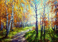 how to html color codes for text Landscape Drawings, Landscape Art, Landscape Paintings, Beautiful Nature Pictures, Beautiful Landscapes, Autumn Scenes, Autumn Painting, Painting Gallery, Fall Pictures