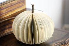 DIY Paper pumpkins   #Lilyshop Use real pumpkin stem