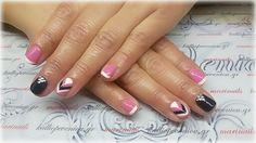 #nails #nailart #shortnails #frenchnails #swarovskicrystals
