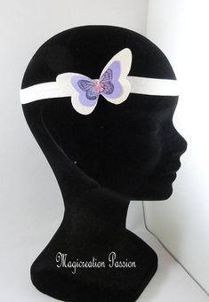 bandeau serre-tête headband élastique satin blanc papillon Eyes, Beauty, White Satin, Bandeaus, Alice Band, Unique Jewelry, Fabric, Beleza, Cat Eyes