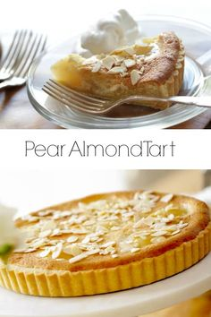 A Great Dessert Idea For Thanksgiving. A Delicate Crust Mixed With Rich Almond Paste And Tender Pears. Such A Winner Includes Video Tutorial Too. Via Entwithbeth Thanksgiving Desserts Easy, Fall Dessert Recipes, Desserts To Make, Great Desserts, Holiday Desserts, Cookie Recipes, Pear Dessert, Healthy Desserts, Christmas Recipes