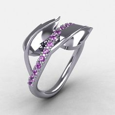 Reserved for Leslie  14K White Gold Lilac by NaturesNouveau, $799.00
