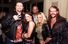 With Lita, Trish Stratus, and Raven