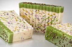 Fantastic Flowering Herb Soaps, Very Pretty ~:~ from www.aniselle.com ~<3