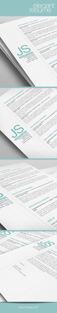 elegant resume template 110510 premium line of resume cover letter templates easy