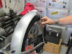Lowbrow Customs / Tech How To Mount Motorcycle Fender Part 2