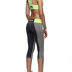 Women Sexy Zipper Pocket Leggings Fitness Capri Pants Reflective Leggins  Slim Women s Workout Trousers Quick- abd3a9e215bf