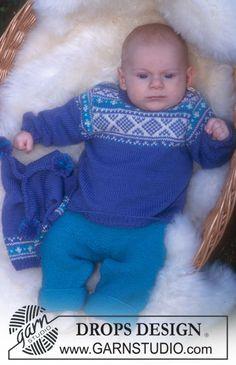 Norwegian style jumper, pants, hat and socks in Baby Merino ~ DROPS Design