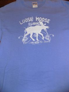 0b67eae4 Loose Moose Lodge Get Loose With the Moose T Shirt Size Medium Purple