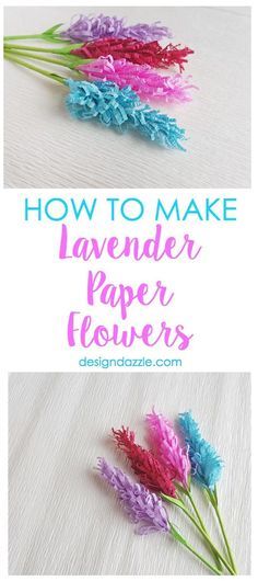 If you are looking for an extremely fun craft to do with the kiddos or even a gorgeous addition to your home or party decor, these lavender paper flowers would be perfect! This post even includes a free template!   Design Dazzle