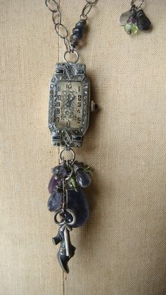 What a stunning second life for this old watch. What a stunning second life for this old watch. What a stunning second life for this old watch. Tribal Jewelry, Metal Jewelry, Jewelry Art, Jewelry Design, Jewelry Ideas, Jewlery, Old Watches, Antique Watches, Vintage Watches