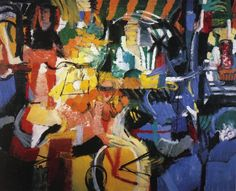 City Life by Grace Hartigan Helen Frankenthaler, Jackson Pollock, Painter Artist, Artist Art, Abstract Painters, Abstract Art, Joan Mitchell, Thing 1, Abstract Styles