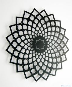 """Metal Wall ornament ISFAHAN - 60 cm et plus / 23.75"""" and more - Laser cutting design - © Tolonensis Creation"""