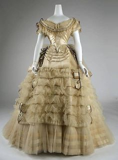 1860s Ball Gown~ Museum Piece