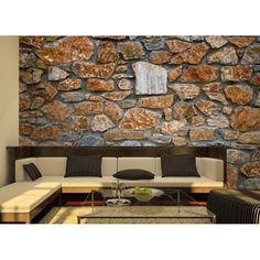 Muro de piedras, decoración rústica #decoracion #vinilo