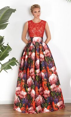 Conjunto MATILDE CANO Falda Larga Estampada Beautiful Maxi Dresses, Elegant Dresses, Formal Dresses, African Fashion Dresses, African Dress, Dress Outfits, Dress Up, Fashion Outfits, Shadi Dresses
