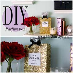 DIY Chanel Perfume Room Decoration & Storage | lifestyle