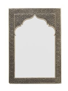Compact with a luxury feel, this medium silver mirror is ideal for a hallway, bathroom or cloakroom to instantly add warmth and Moroccan character Moroccan Mirror, Moroccan Lighting, Indian Bedroom Decor, Carved Wood Wall Art, Pooja Room Door Design, Moroccan Furniture, Islamic Art Pattern, Mirror Makeover, Pooja Rooms