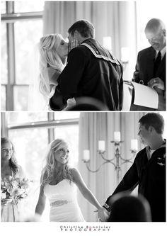 So adorable. Navy SEAL wedding. -Christine Bonnivier Photography
