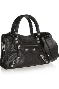Balenciaga   City mini textured-leather shoulder bag   NET-A-PORTER.COM