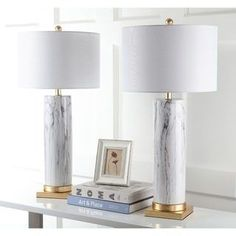 Safavieh Lighting Sonia Marble 31.25-Inch Table Lamp (Set of 2) | Overstock.com Shopping - The Best Deals on Lamp Sets