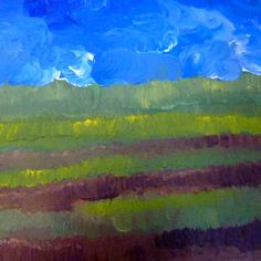 Field and Blue Sky from Etsy