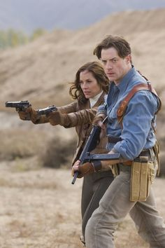 Brendan Fraser and Maria Bello in The Mummy: Tomb of the Dragon Emperor