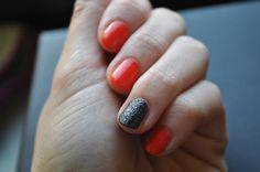 #manicure #mani #manioftheday #motd #nails #nailsoftheday #notd #paznokcie #naillacquer #nailpolish #lacquer #polish #nagellack #halloween #orange #black #pumpkin #wibo #lakier piaskowy #sandeffect #mollon #mollonpro